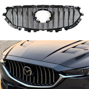 Fit for Mazda CX-5 CX5 2017-2021 ABS Black Front Grille Mesh Grill Vent Trim Bar