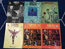 Lot of 6 Nirvana Guitar Tab / Tablature Books - Nevermind, Bleach, Incesticide +