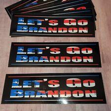 Lets Go Brandon American Patriot Theme Bumper Sticker Made in the Usa