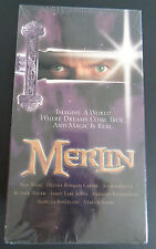 MERLIN Hallmark VHS TAPE Part One and Two SEALED New 1998 NBC Home Video RARE