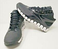 REEBOK Reezig Zigtech Black Sz 9 Men Patent Leather Basketball Shoes J87052