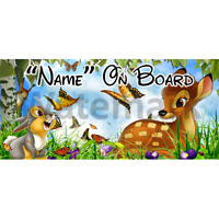 Disney Bambi Personalised Baby On Board Car Sign