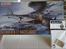 FOCKE-WULF FW190A-8/R11 NACHTJAGER 1/48 SCALE DRAGON MODEL+PHOTOETCHED PARTS