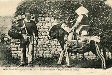 Carte Ile de Ré LA COURADE EN RE L'âne en culotte Départ pour les Champs