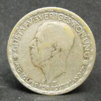 SWEDEN SVERIGE 1 KRONER 1948  SILVER COIN  #995