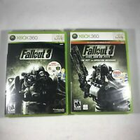 Lot Fallout 3 & Fallout 3 Game Add On Pack Microsoft Xbox 360 Complete Tested