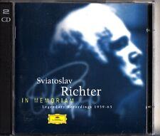 Sviatoslav Richter - In Memoriam, Legendary Recordings 2-CD (1959-1965) DG/Live