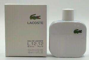 Lacoste Blanc L.12.12 Pure EDT (3.3 Oz 5.9 Oz) Men's
