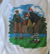 Knightsbridge Sport Golf Sweater Country Club Men's Ugly Sweater Size XL Vintage
