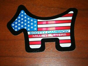 NEW Scotty Cameron 2021 US Open Sticker Scotty Dog Flag Sticker