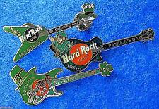 ST PATRICK SAN ANTONIO TORONTO TOKYO FENDER & GIBSON GUITARS Hard Rock Cafe PINS