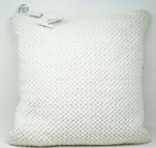 "Savannah Home Aberdeen Woven Cotton 18"" Decorative Bed Throw Pillow - White"