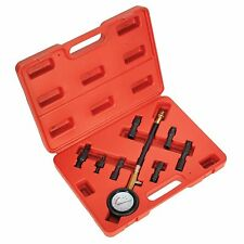 SEALEY 8 PIECE PETROL COMPRESSION TEST KIT WITH 5 ADAPTORS - VSE200  **