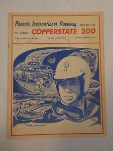 Phoenix International Raceway Copperstate 200 USAC 4/18/1970 Signed Program