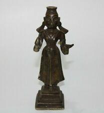 Early 18th C brass lady shape surma dani eyeliner bottle Collectible