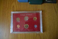 SERIE 6 MONETE FINLANDIA FINLAND MARKKA PENNIA PENNI 1970 HELSINKI SUBALPINA Z