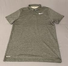 New listing Nike Aeroreact Golf Shirt Polo (L, Gray/Black, Striped)(G41)(Fits like Medium)