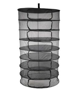 Hydroponic 8 Tier Foldable Herb Drying Rack