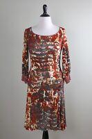 JUST CAVALLI Roberto Cavalli $635 Slinky Stretch Denim Damask Dress Size 44