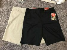 Lot Of 2 Fila Sport Golf Shorts Black Beige Tee & Score Card Pockets Size 34