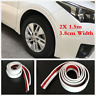 2Pcs White Rubber Car Wheel Arch Trim Fender Flare Wheel Eyebrow Protector Strip