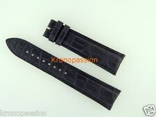 Jaeger LeCoultre Dark Navy Blue Alligator Strap 22mm by 18mm New !