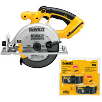 "DeWalt DC390-2 18v Xrp 6-1/2"" Circular Saw with 2 batteries New"