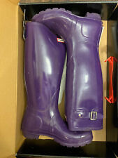 Used WOMEN'S HUNTER TALL RAIN BOOTS IN Sovereign Purple SIZE 6 us, 38 Eur