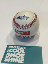 SUPREME x RAWLINGS OFFICIAL BASEBALL MLB NY RED BOX LOGO SS12 2012 BOGO CDG