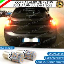 COPPIA LAMPADE PY21W BAU15S CANBUS 35 LED PEUGEOT 208 MK2 FRECCE POSTERIORI