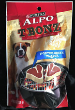 Purina Alpo T Bonz Porterhouse Dog Treats Made With Real Beef 4.5 oz Steak Shape