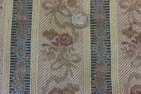 """Antique French Brocaded Lampas Fabric c.1910~Bows & Florals~26""""L X 21""""W"""