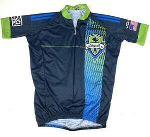 VoMax Seattle Sounders FC MLS Soccer Bike Cycling Jersey Club Mens Sz XS