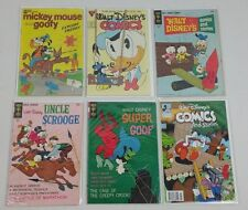 Whitman & Gold Key Walt Disney Vtg Comic Book Lot Of 6 Super Goof Mickey Scrooge