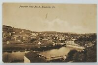 Brookville Pa Panoram View Town Bridge Factories c1910 Postcard N3
