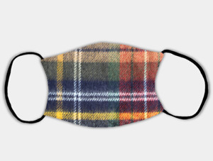 Printed Tartan Adjustable Face Mask with 2 x PM2.5 Filters