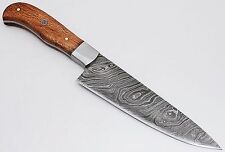 Custom Damascus steel BLADE KITCHEN KNIFE/CHEF KNIFE MAPLE WOOD  HANDLE