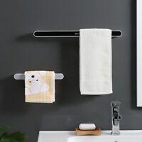 Wall Mounted Self-adhesive Towel Holder Rack Bathroom Towel Bar Shelf Roll