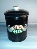 🔥Friends CENTRAL PERK Black Ceramic Canister Cookie or Coffee Canister NEW