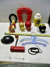 Old Vintage Junk Drawer LOT Toys Wooden Plastic Playskool Wham-o Train Parts