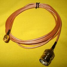 EXTERNAL ANTENNA Cable Lead 2m Adapter Uniden GME Icom UHF SO239 to SMA male CB