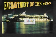 Royal Caribbean Cruise Line Enchantment Of The Seas At Night Miami Postcard
