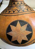 Artist Decorated Gourd.  Well known artist Margo Annis.