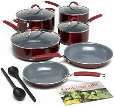 New listing Allure Non-Stick Ceramic Cookware Multipurpose Use, Silicone Stay Cool Handle