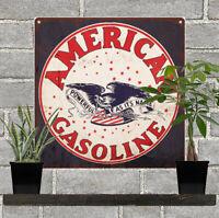 """Blue Sunco Gas Gasoline Garage Shop Mancave Metal Sign Repro 12x12/"""" 60358"""