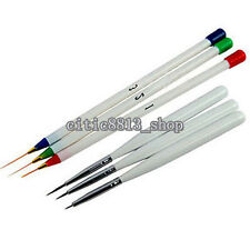6x Acrylic Drawing Large Nail Art Manicure Brushes for Painting 3D Mold DIY CIT