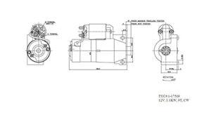 Starter Motor TYC 1-17509