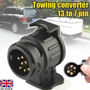 13 to 7pin Tow bar Socket Plug Towing Adaptor Converter Trailer Truck Caravan UK