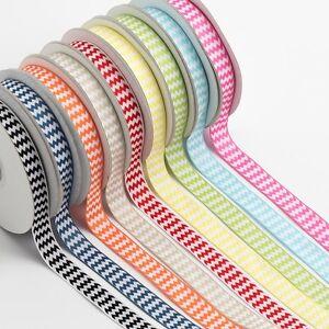 High Quality 15mm Double Sided CHEVRON Zig Zag Craft Wedding Ribbon