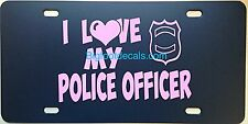 License Plate Vanity Tag Police Supporter I Love My Police Officer Badge PD 5 0